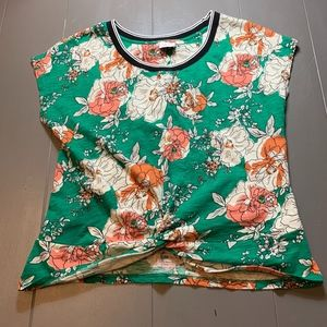 Anthropologie 100% cotton Floral Shirt Large